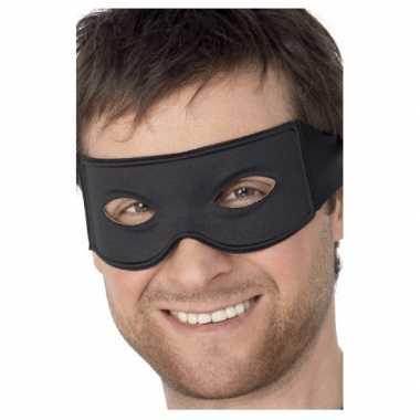 Verkleedkleding  Oogmaskers Boef zwart tip