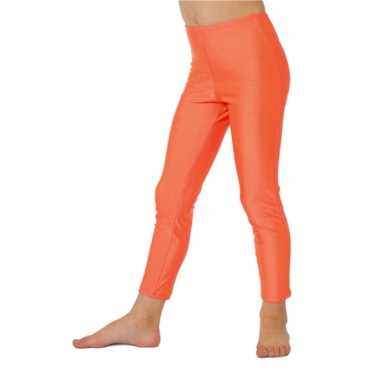 Verkleedkleding  Oranje leggings kind tip