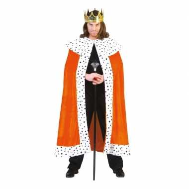 Verkleedkleding  Oranje Royal mantel volwassenen tip