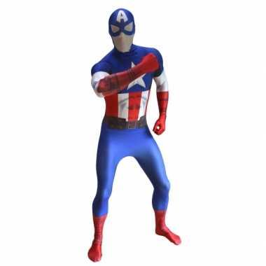 Verkleedkleding  Originele morphsuit Captain America tip