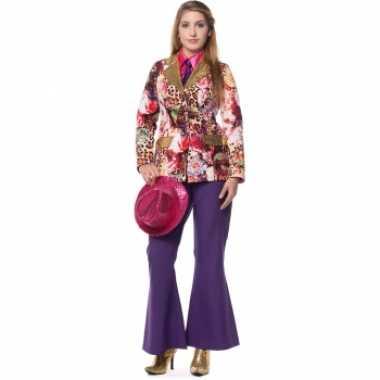 Verkleedkleding  Paarse broek dames tip