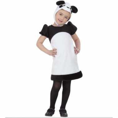 Verkleedkleding  Pandabeer verkleedjurkje meiden tip