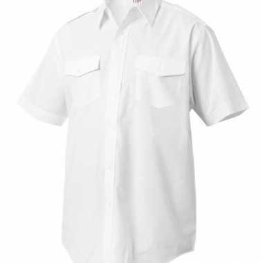 Verkleedkleding  Piloten overhemd korte mouwen tip