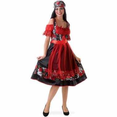 Verkleedkleding  Piraten jurkje doodshoofden tip