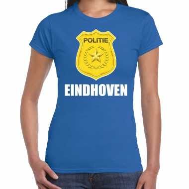 Verkleedkleding politie embleem eindhoven carnaval verkleed t shirt blauw dames tip