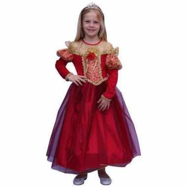 Verkleedkleding  Prinsessen jurk gouden details tip