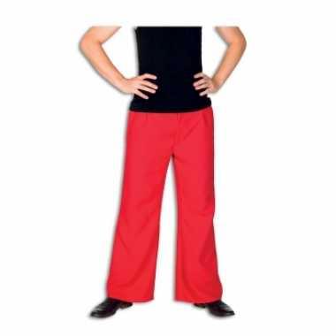Verkleedkleding  Rode broek heren tip
