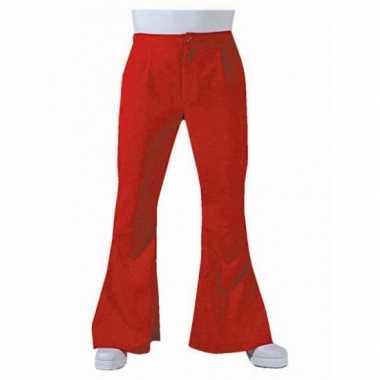 Verkleedkleding  Rode disco heren broek tip
