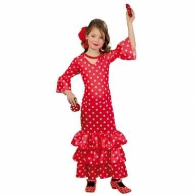 Verkleedkleding  Rode flamenco jurk tip