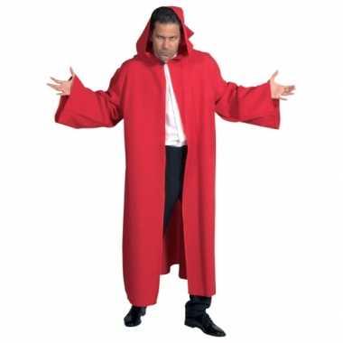 Verkleedkleding  Rode heren cape deluxe tip