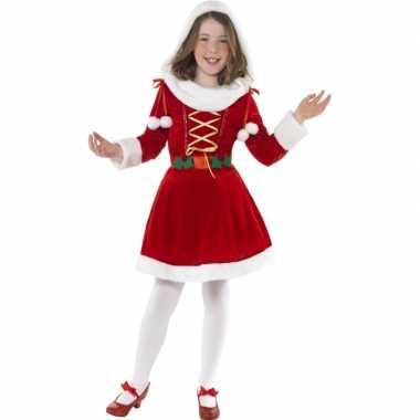 Verkleedkleding  Rood kerst jurkje bontrand tip