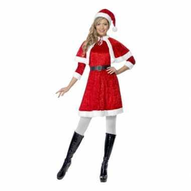 Verkleedkleding  Rood kerstjurkje cape tip