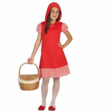 Verkleedkleding roodkapje verkleedjurkje meisjes tip