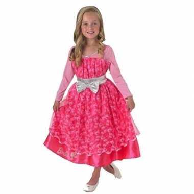 Verkleedkleding roze barbie deluxe jurk meisjes tip