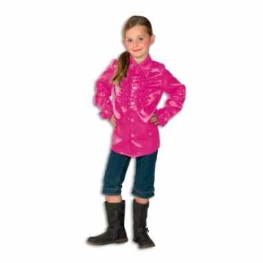 Verkleedkleding  Roze disco blouse meisjes tip