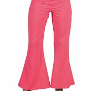Verkleedkleding  Roze disco dames broek tip
