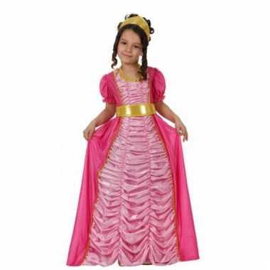 Verkleedkleding  Roze kinder verkleedjurk prinses tip