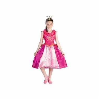 Verkleedkleding  Roze Prinses Roos jurk meiden tip