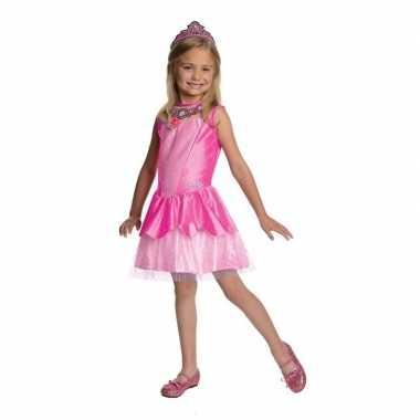 Verkleedkleding roze prinsesen jurkje meisjes tip