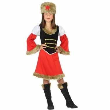 Verkleedkleding russische kozakken verkleed jurk meisjes tip