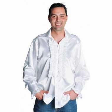 Verkleedkleding  Satijnen overhemd rouches tip