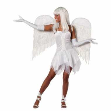 Verkleedkleding  Sexy engelen jurkje wit tip