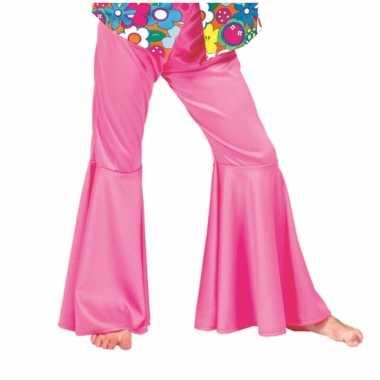 Verkleedkleding  Sixties roze broek kind tip