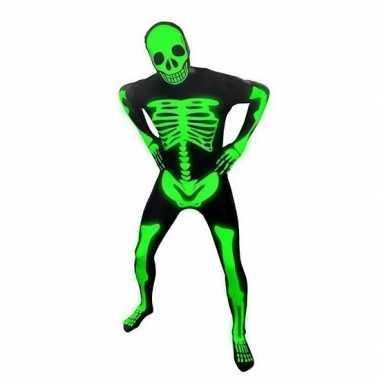 Verkleedkleding  Skelet morphsuit glow the dark tip