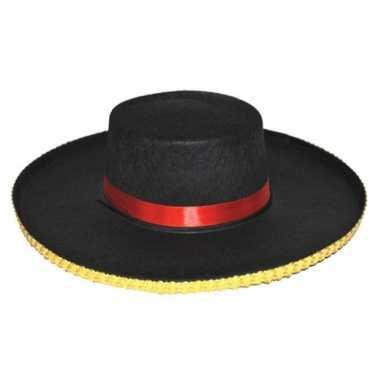 Verkleedkleding spaanse dames hoed carmen tip