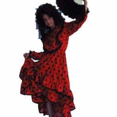 Verkleedkleding  Spaanse jurk rood gekleurd tip