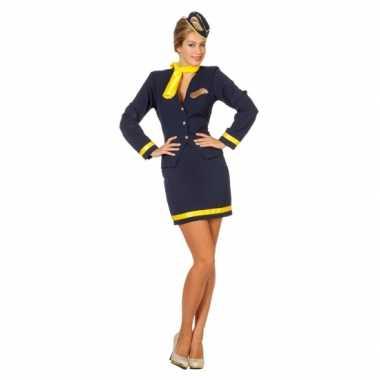 Verkleedkleding  Stewardess damesuniform tip