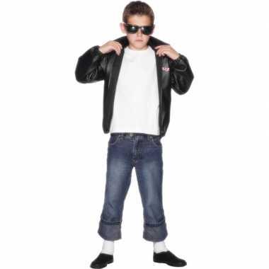 Verkleedkleding  Stoer jongens Grease jasje tip