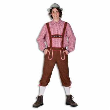 Verkleedkleding  Tiroler bruine broek mannen tip