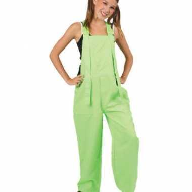 Verkleedkleding  Tuinbroek een kind felgroen tip