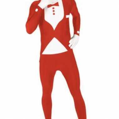 Verkleedkleding  Tuxedo morphsuits rood tip