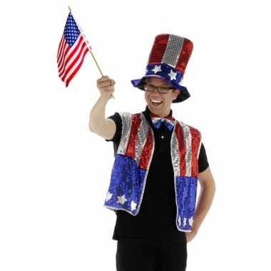 Verkleedkleding  USA verkleed set drie delig tip