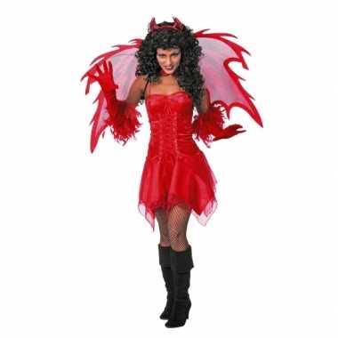 Verkleedkleding  Vampieren jurkje rood dames tip