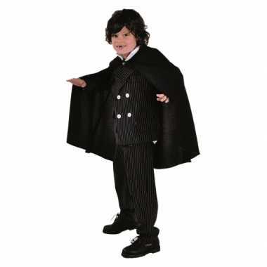 Verkleedkleding  Vampieren kinder cape zwart tip