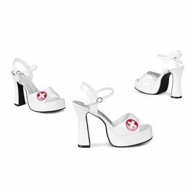 Verkleedkleding  Verpleegster schoenen rood kruis tip