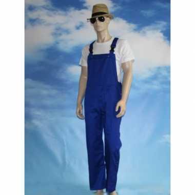 Verkleedkleding verstelbare tuinbroek kind blauw tip