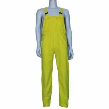 Verkleedkleding verstelbare tuinbroek kind geel tip