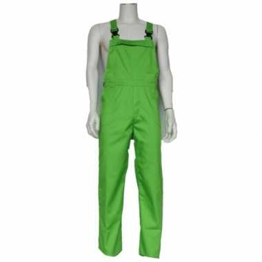 Verkleedkleding verstelbare tuinbroek kind groen tip