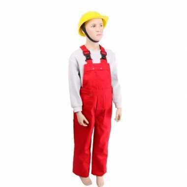 Verkleedkleding  Verstelbare tuinbroek kind rood tip