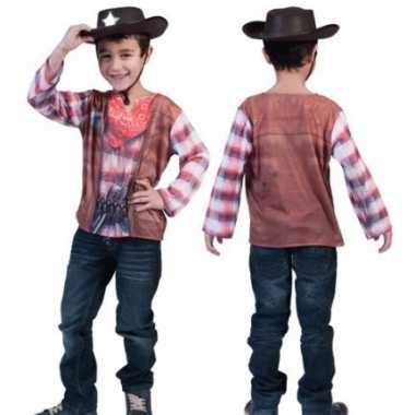 Verkleedkleding  Western t-shirt kind tip