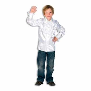Verkleedkleding  Witte disco blouse jongens tip