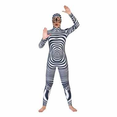 Zebra catsuit/verkleedkleding volwassenen tip