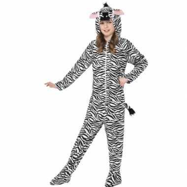 Verkleedkleding  Zebra Onesie kind tip