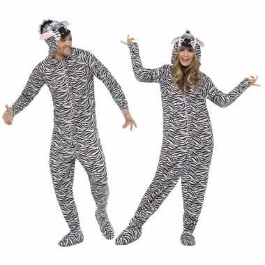 Verkleedkleding  Zebra Onesie volwassenen tip