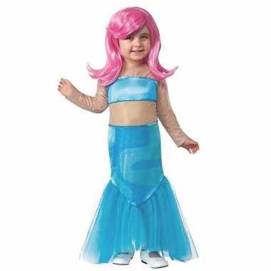 Verkleedkleding zeemeermin jurk pruik meisjes tip