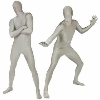 Verkleedkleding  Zilveren morphsuits tip